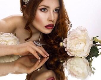 Bridal hair band, bridal headpiece, bridal headband, crystal bridal headpiece, sparkly headpiece, wedding headpiece, wedding accessories