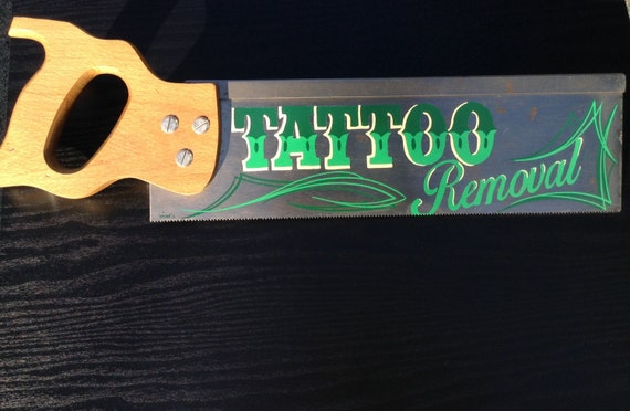 Tattoo removal scie avec pinstriping peint la main vu art for Tattoo removal in louisiana