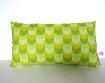Rectangular pad 36 x 20 cm scales green shades