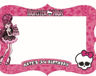 Monster high digital photo booth prop 39 x 31.5 inch