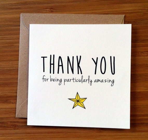 You Re Amazing Thank You: Thank You Card / Appreciation Card / You're Amazing A Star