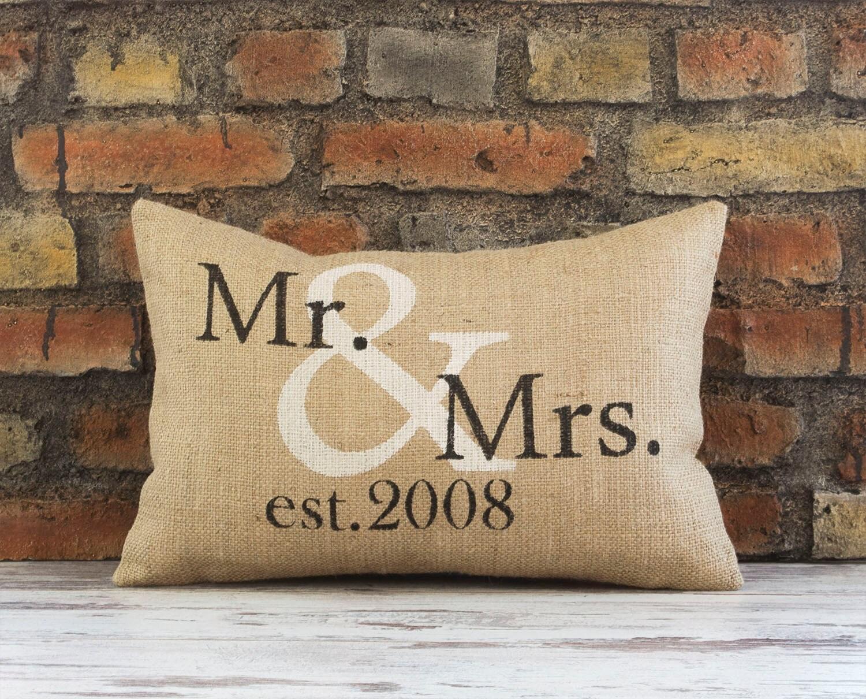 Mr Mrs Wedding Gifts: Mr And Mrs Pillow Wedding Gift Anniversary Gift Wedding