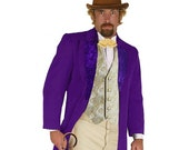 Adult Willy Wonka and the Chocolate Factory Inspired Costume - Victorian and Steampunk Attire for the Classy Gentlemen