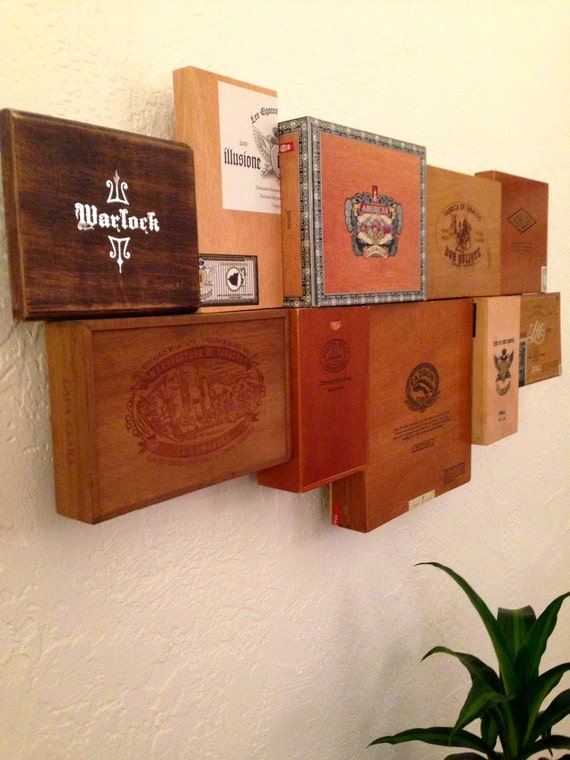 Items similar to unique cigar box wall art on etsy for Cigar boxes for crafts