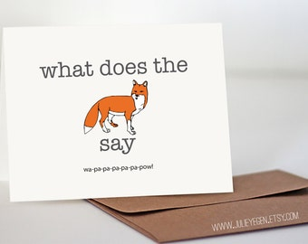 Birthday / Funny Card | What Does the Fox Say
