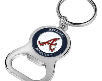 Atlanta Braves Keychain Bottle Opener
