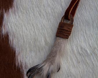 Grouse Foot Buckskin Necklace