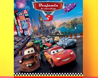 Disney Cars Invitation, Lightning McQueen birthday invitation, Editable pdf, Instant download, Disney cars party, cars printable invite