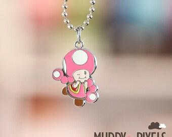 Mario Bros Necklace featuring Toadette