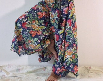 Wide-leg Pants Skirt Pants  with Colorful Floral (WL-101)