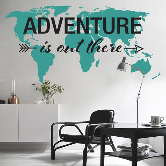 Adventure Is Out There World Map Decal Large World Map