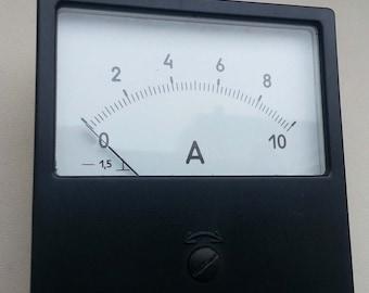 Vintage Soviet Ammeter DC 10A