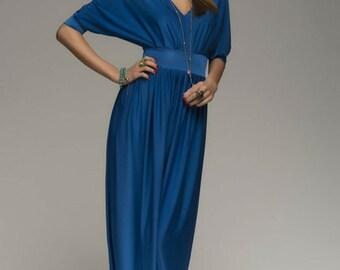 Blue Jeans Maxi Dress Evening,Formal Floor Length Dress Bridesmaid.