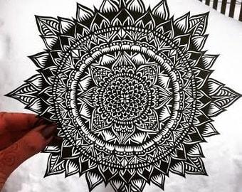 Flowery Mandala Paper Cut Out