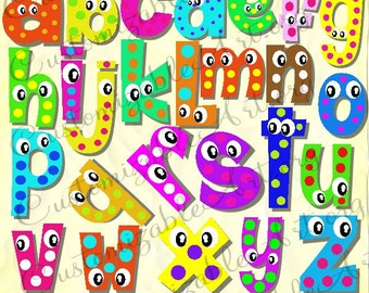 digital fun alphabets clipart cute digital letters of the alphabet clip art wiggle googly eyes cartoon - Fun Letters To Print