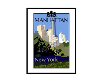 Giclee Print: Manhattan New York