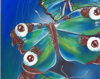 Painting, Butterfly, 50x70 cm