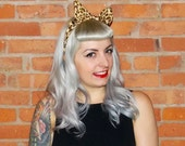 Rockabilly Hair Accessories Animal Print Cheetah Print Leopard Print Bow Wire Head Wrap Vintage Retro Pin Up Dolly Bow Wire Head Band