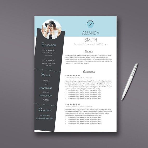 Creative Resume Template | Cover Letter | Thankyou Letter | Word | 1 ...