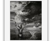 Fine Art Print (matted) THIS VALE of TEARS - Surreal Fantasy Dark Art Photo Illustration by Agardnas