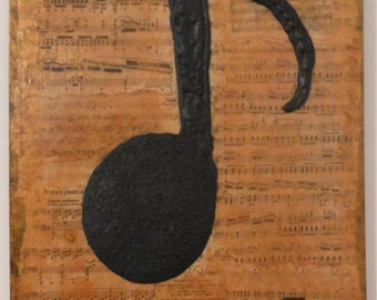 Piano Music Note Wall Art Sculpture