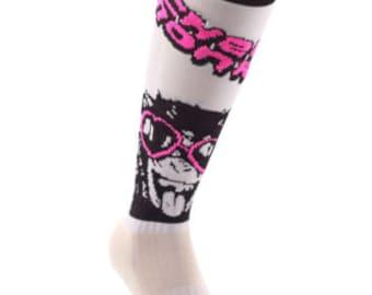 Samson® Cheeky Monkey Funky Socks Sport Knee High Sport Football Rugby Soccer