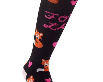 Samson® Foxy Lady Funky Socks Sport Knee High Sport Football Rugby Soccer