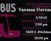 items similar to party bus digital invitation template on etsy, party invitations