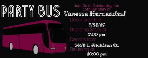 Party Bus Invitations is one of our best ideas you might choose for invitation design