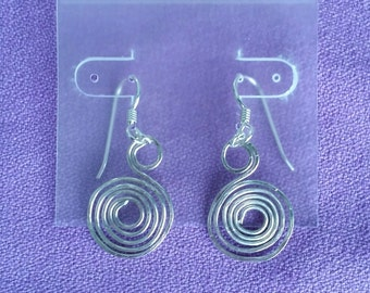 Argentium Silver Swirl Earrings