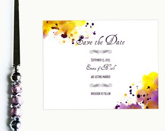 Save the Date Wedding Save the Date Cards Watercolor Save the Date Watercolor Wedding Save the Dates Watercolor Cards Wedding Stationery