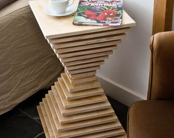 Stacked Plywood side table