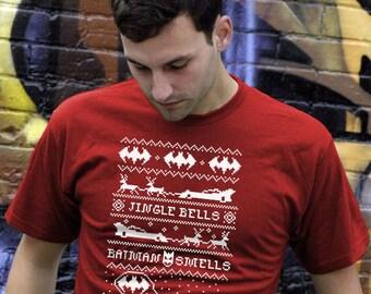 Funny Christmas Tshirt | Ugly Christmas Shirt | Ugly Sweater T-shirt | Dark Knight | Super Hero T-shirt | Retro Christmas Shirt | AR-46
