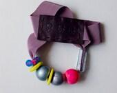 SALE _ Asphalt Series necklace // five