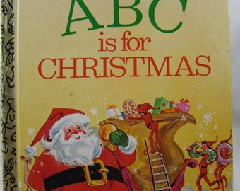 ABC is for Christmas, vintage Little Golden Book