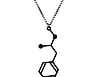 Methamphetamine Molecule Necklace - Matte Black