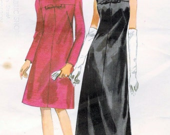 1960s Butterick 4190 Vintage Sewing Pattern Misses Cocktail Dress, Evening Dress Size 14 Bust 34