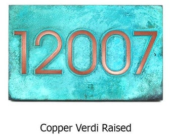 Modern Home Address  Advantage Numbers - 5 or 6 House Numbers 20x8 inches Custom for you by Atlas Signs and Plaques