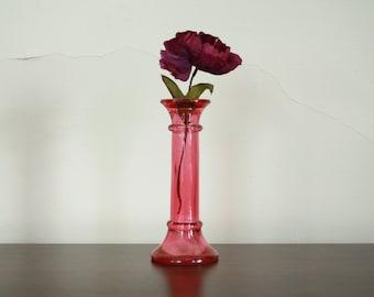 Vintage Cranberry Pink Glass Vase
