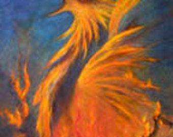 Phoenix Print Poster, Phoenix, Firebird, Fine Art Print, Home Decor, wall art,