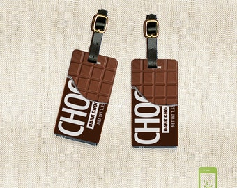 Personalized Luggage Tags Chocolate Candy Bar Luggage Tag Set Personalized  Luggage Tags - Full Metal Tags - Printed Address, text or quote