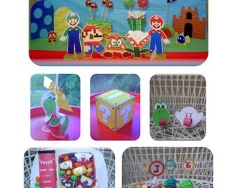 Super Mario Bros. Birthday Party HUGE Package plus FREE item - DIY Personalized Editable Color Printable