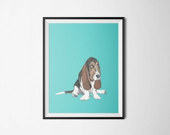 Custom Pet Portrait - 8x10 inch Hand Painted Illustration of your Pet - Custom Portrait - Family Pet - Dog Lover Gift Idea -  Dog Art