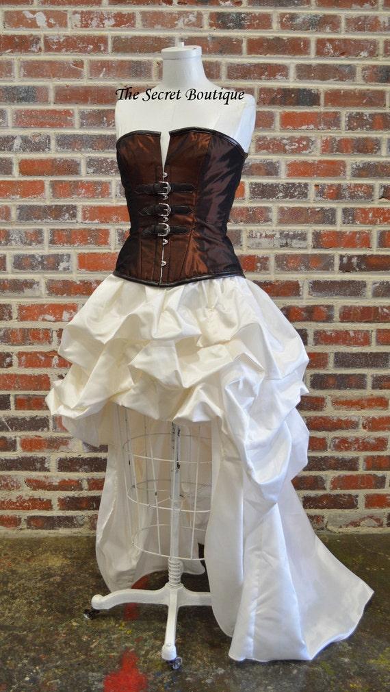 steunk skirt steunk bridal skirt hi low bustle