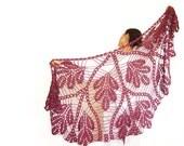 Triangle Scarf. Crochet Lace Shawl. Summer Fashion