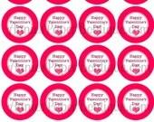 """2"""" Round Valentine's Day Tags, Happy Valentine's Day, Valentine - Printables, Digital Download"""