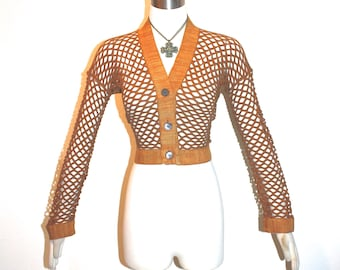 ROMEO GIGLI Vintage Sweater Cut Out Cardigan - AUTHENTIC -