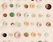 Still Life Buttons Photograph, Craft Room Decor, Kitchen Art, Vintage Buttons Photo, Fine Art Print, Pink, Nursery Decor, Modern Girls Room