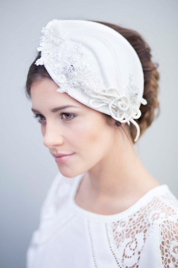 Bridal Cocktail Hat Vintage Style Wedding by MaggieMowbrayHats