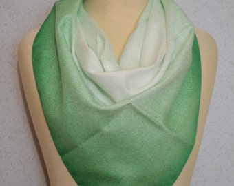 Emerald Green and White Ombre Spray Paint Vintage Square Scarf